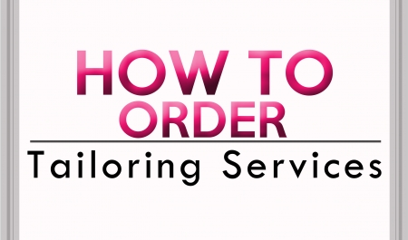 How to order Tailoring Services